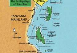 map of zanzibar, where is zanzibar